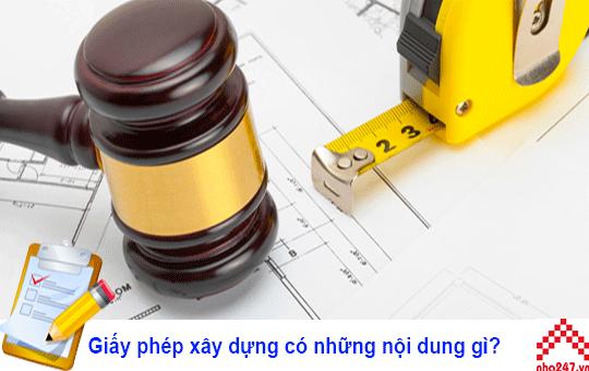 Nội dung giấy xin phép xây dựng
