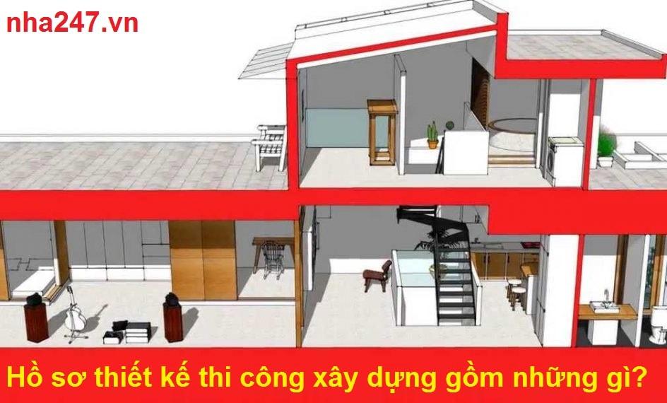 Hồ sơ thiết kế thi công xây dựng gồm những gì?