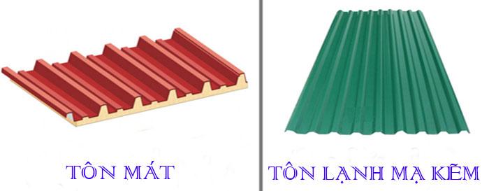 So sánh giá tôn pu cách nhiệt và tôn lạnh mạ kẽm