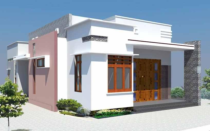Mẫu thiết kế nhà mái bằng độc đáo