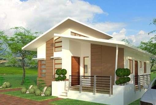 Mẫu thiết kế nhà mái lệch hiện đại