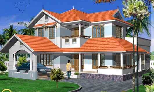 Mẫu thiết kế nhà mái ngói hiện đại