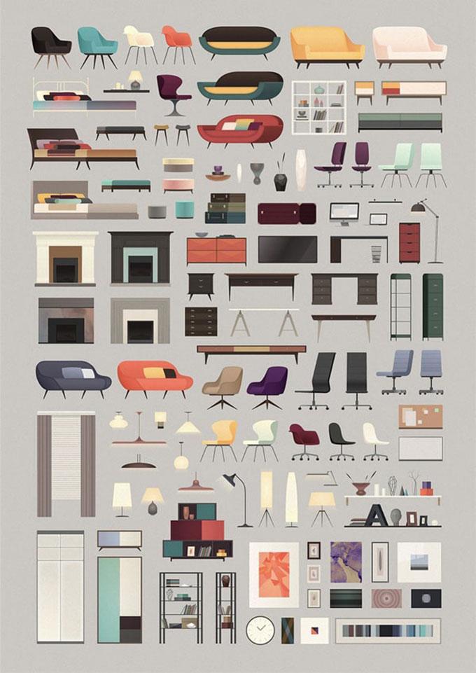 Các sản phẩm nội thất theo phong cách Bắc Âu