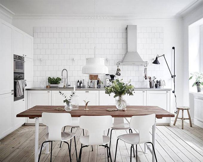 Mẫu thiết kế phòng bếp phong cách Scandinavian