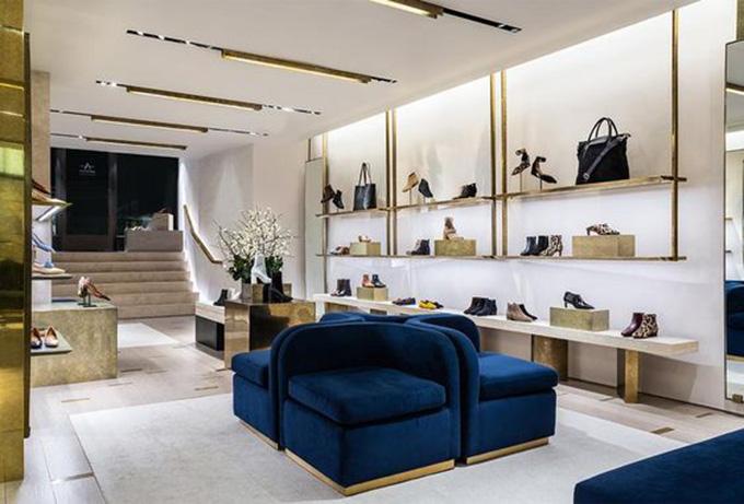 Mẫu thiết kế shop giày dép túi xách đẹp