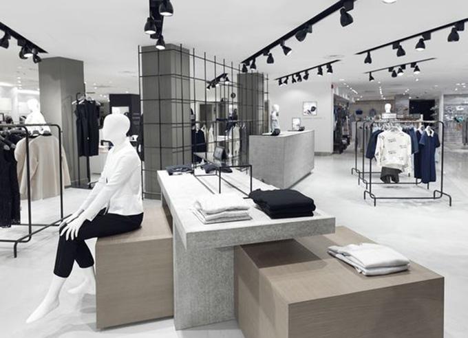 Thiết kế chiếu sáng sang trọng cho showroom thời trang