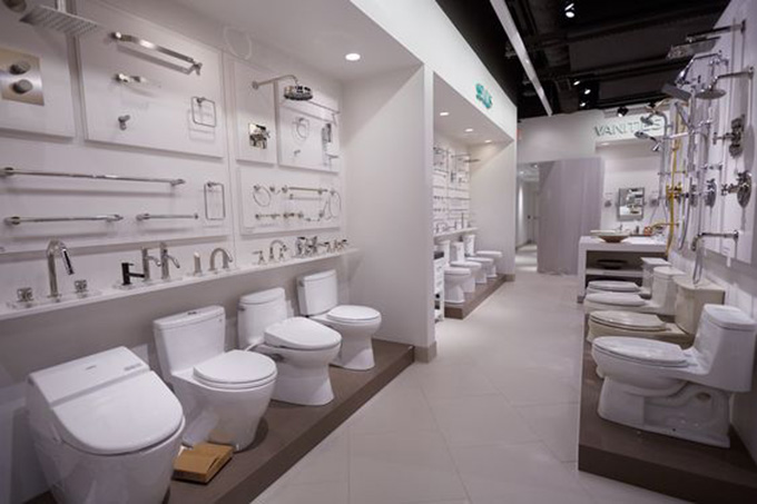 Mẫu showroom trưng bày thiết bị vệ sinh sang trọng