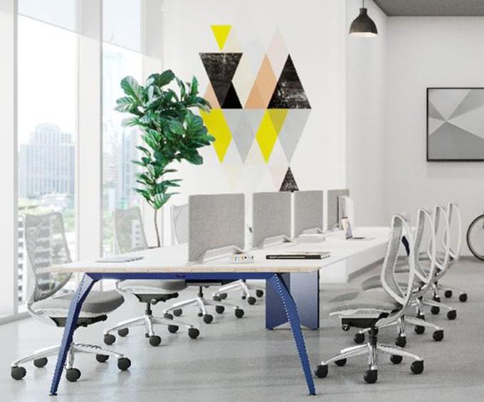 Mẫu văn phòng làm việc đẹp, hiện đại với không gian mở
