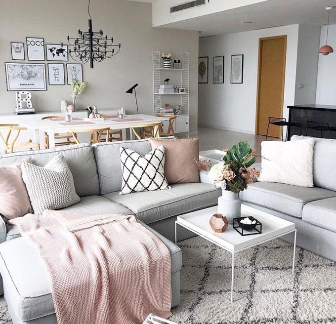 Mẫu thiết kế phòng khách phong cách Scandinavian